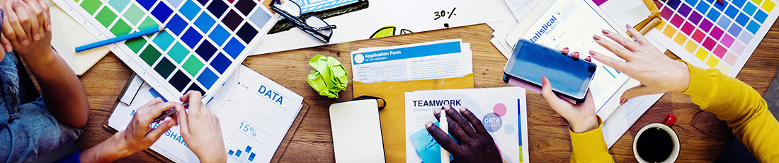 We offer comprehensive strategy and graphic design services, at reasonable rates, with friendly, creative professionals who understand the graphic communications industry!