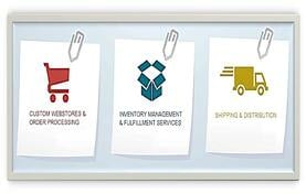 Our comprehensive marketing fulfillment & e-commerce solutions cover everything from click to ship!