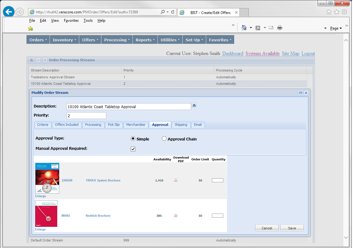 Access to online inventory management tools, create automated email notifications of low stock and reorder alerts, Utilize custom reports, View inventory statuses, and more!